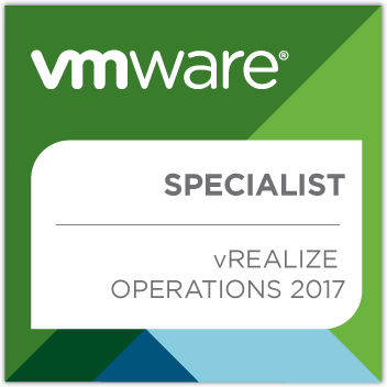 VMware vRealize Operations 2017 Specialist Badge